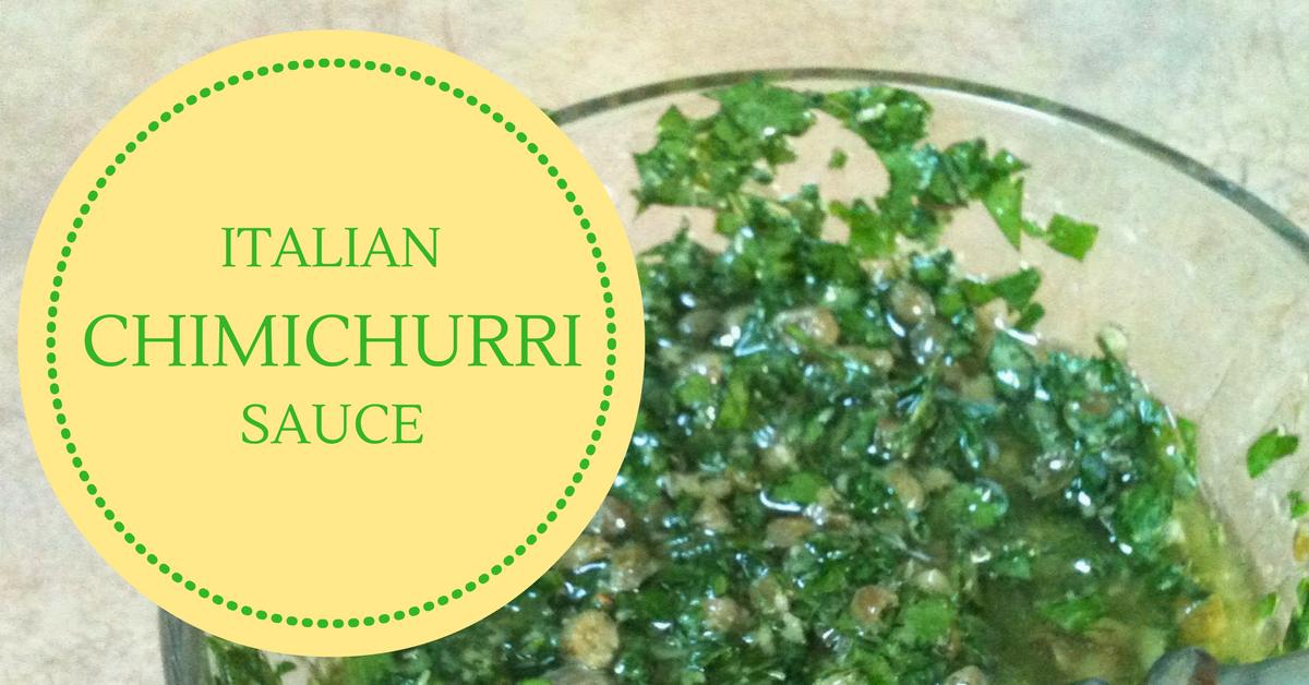 italian chimichurri sauce aka salsa verde