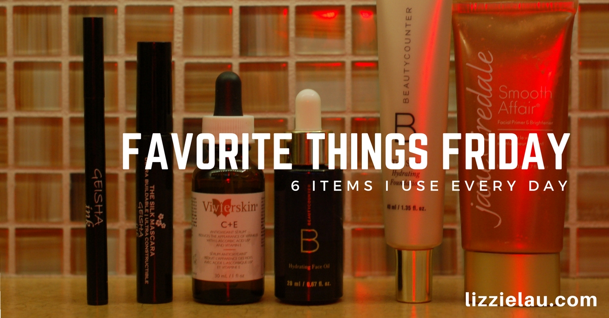 My routine is pretty simple. I have a few favorite skincare and makeup products, and I rely on these 6 things to keep my skin hydrated and even looking.