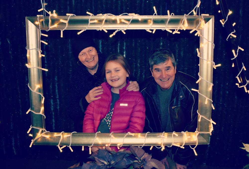 Glow Christmas photo frames
