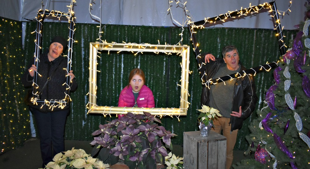 Glow Christmas lighted photo frames