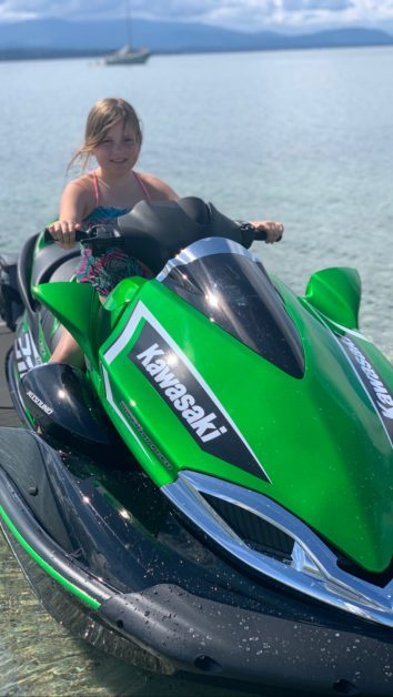 Things to do in Comox with kids - jet ski to Tree Island