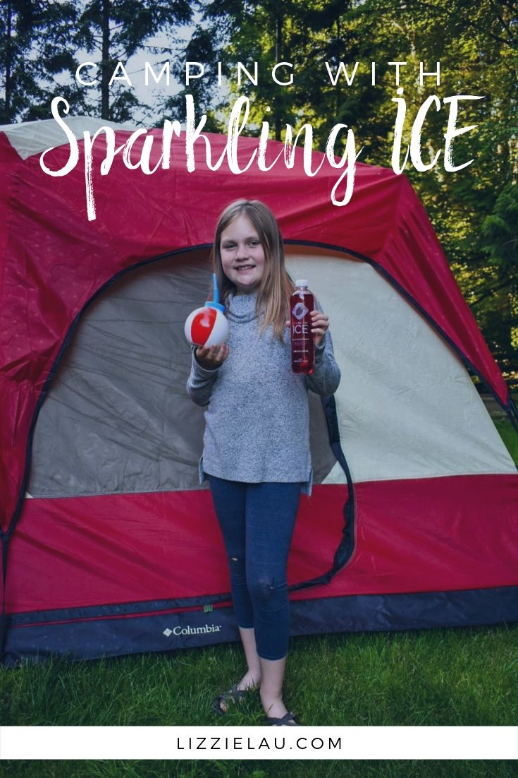 Camping with Sparkling ICE Mystery Flavor