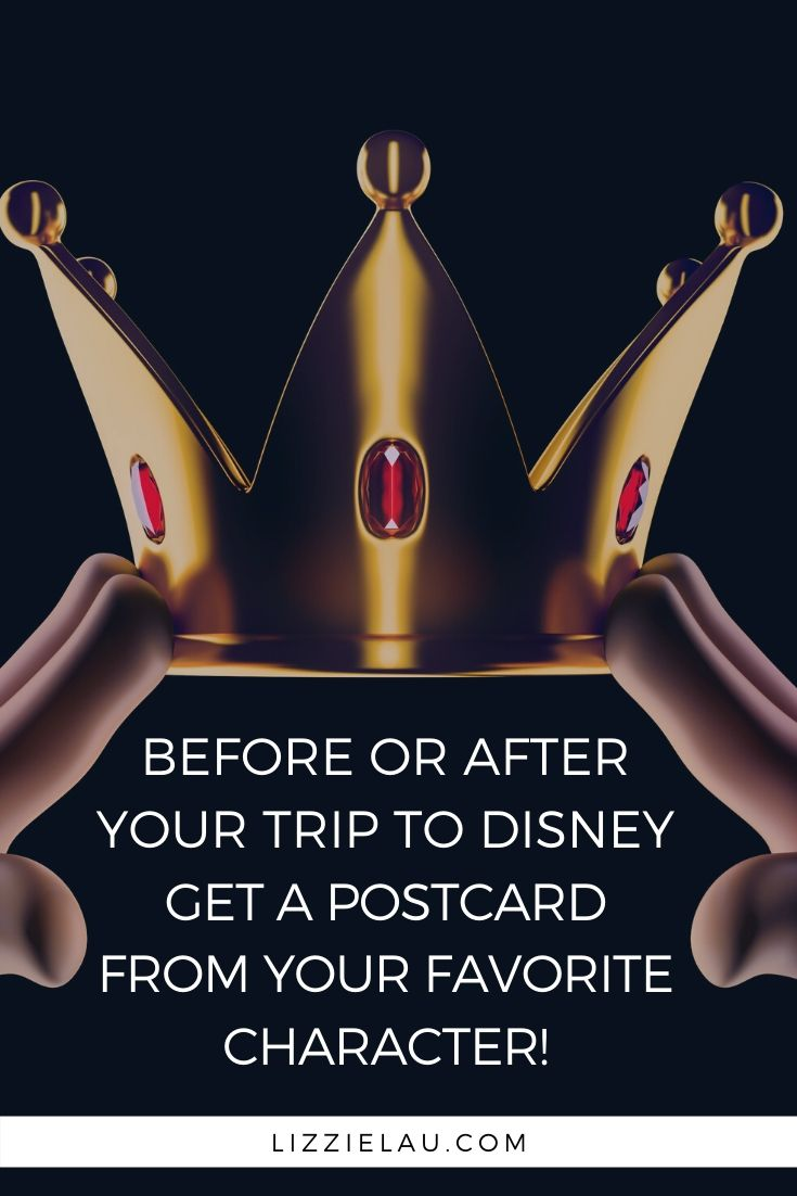 Before your trip write to your favorite Disney character & get a postcard back