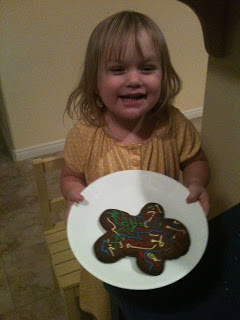 decorated gluten free gingerbread cookie