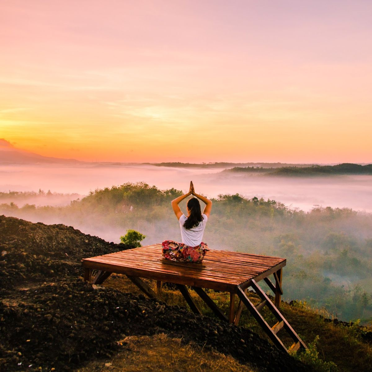 Yoga vacation in the mountains