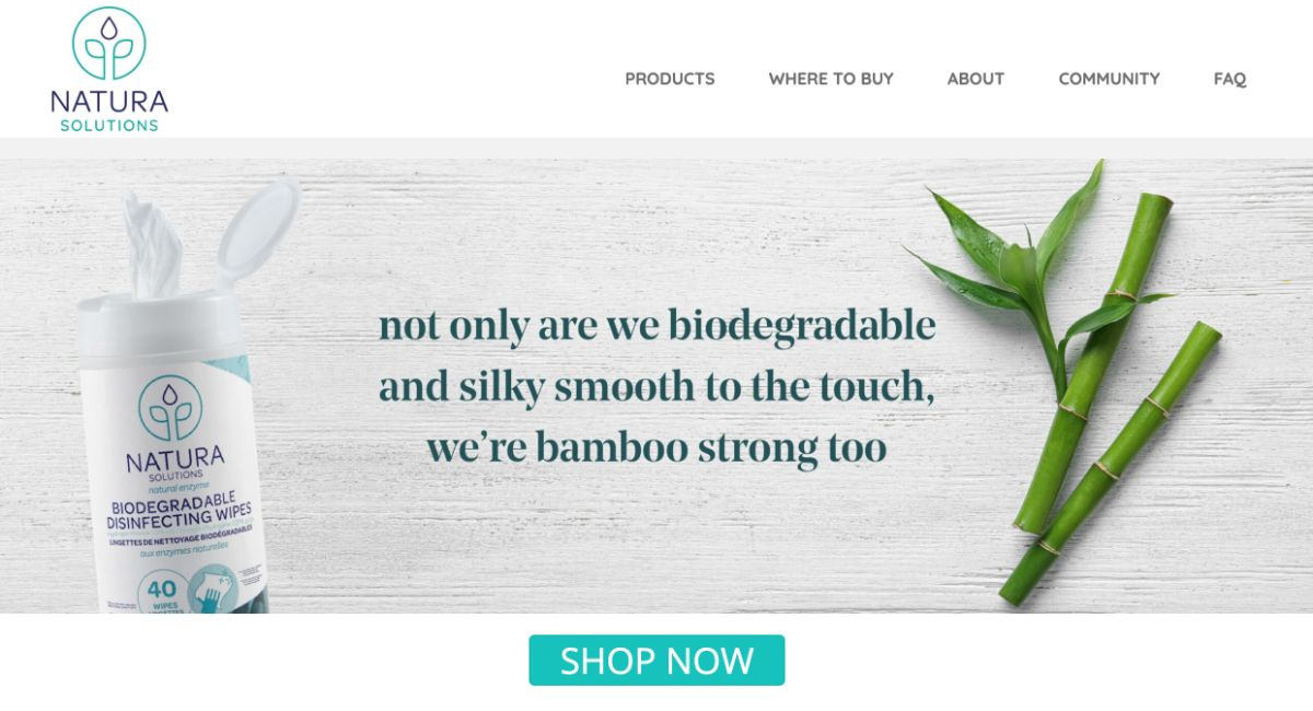 natura solutions website overhaul